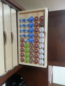 K Cup Organizer Roll Out Shelf
