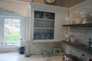 Glass fronted cabinets