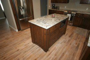 Custom island cabinetry