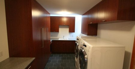 laundry room custom cabinetry